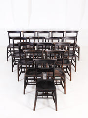 Ebonised Chapel Chairs