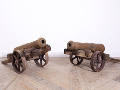 A pair of Lawn Cannons