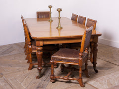 Honey Oak Dining Table