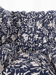 Blue Crewelwork Armchair