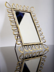 Brass Table Mirror