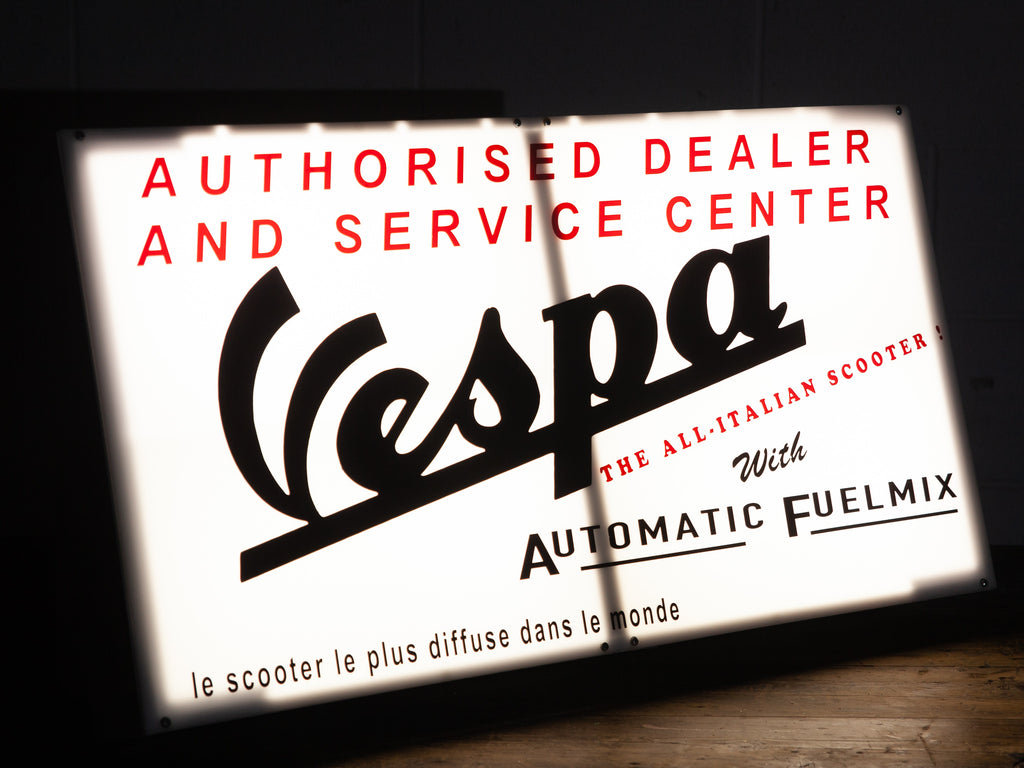 Vespa Dealership Sign