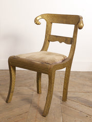 Brass Repousse Chairs