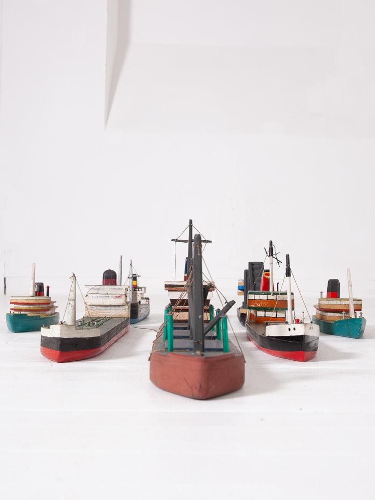Fleet of Wooden Boats