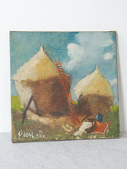 Haystacks Oil on Canvas
