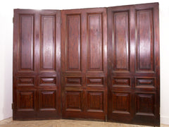 Three Fold Mahogany Doors