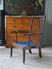 A Laburnum Wood Bobbin Turned Arm Chair