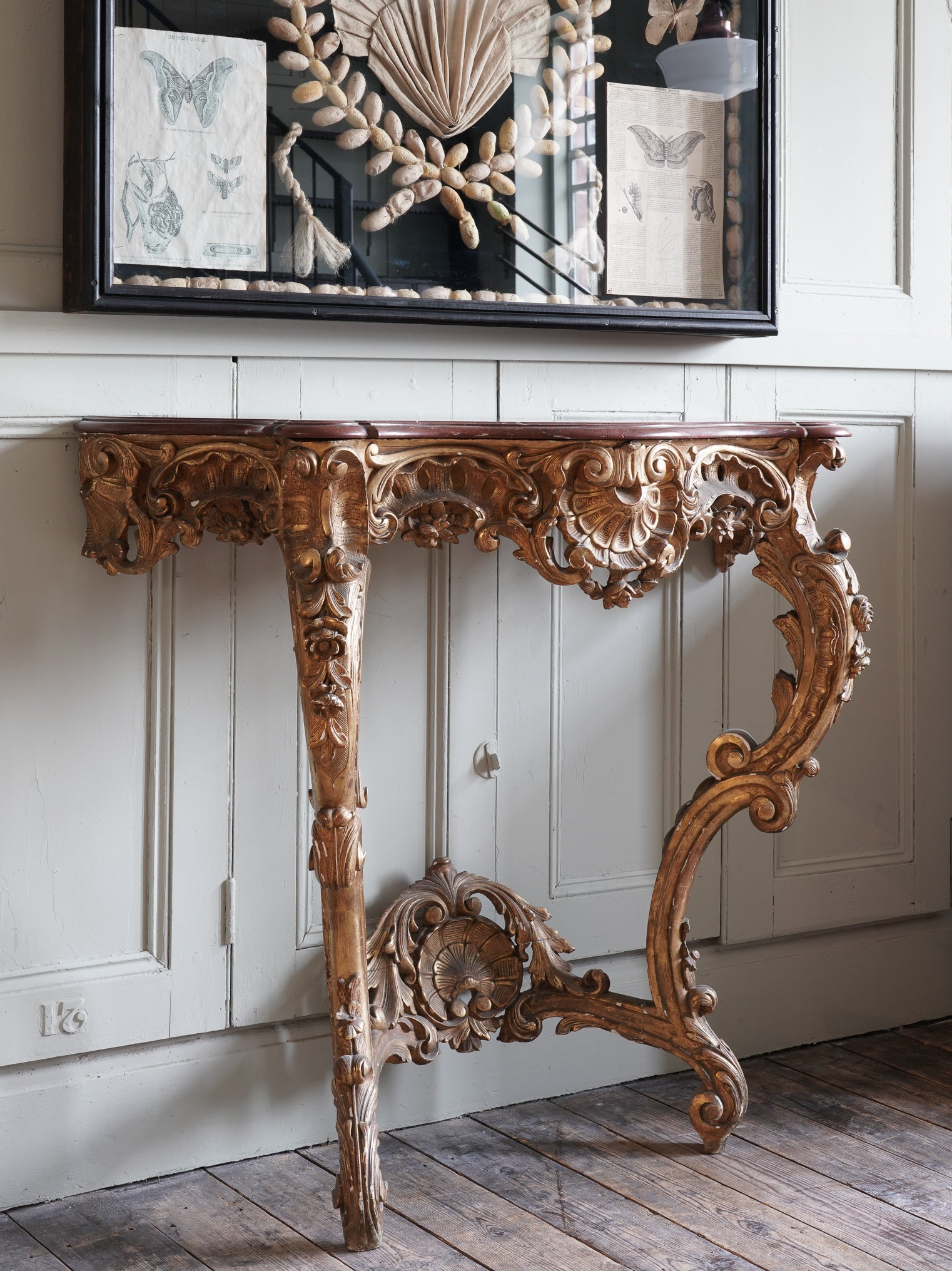 French Rococo Console Table