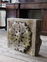 Carved Limestone Snow Flake
