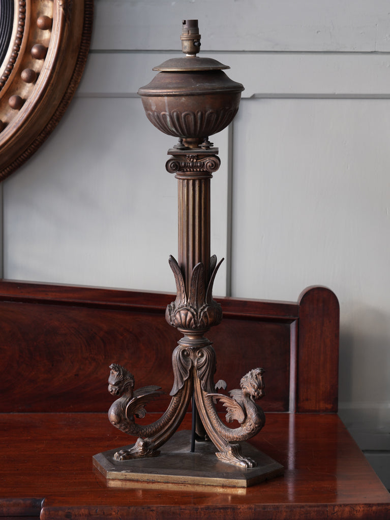 A 19th Century Pillar Lamp