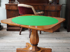A Birds Eye Maple Card Table
