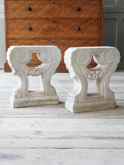 A Pair of 18th Century Marble Bench Supports