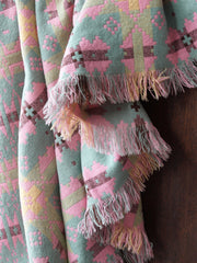 Peppermint & Pink Tapestry Blanket