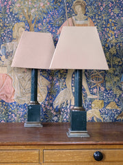 A Pair of Tole Ware Table Lamps