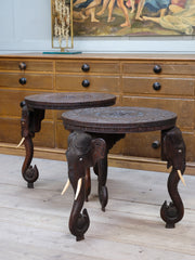 A Pair of Indian Elephant Occasional Tables