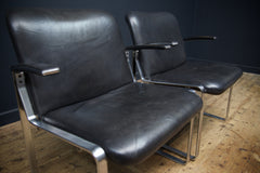 Black Leather Arm Chairs