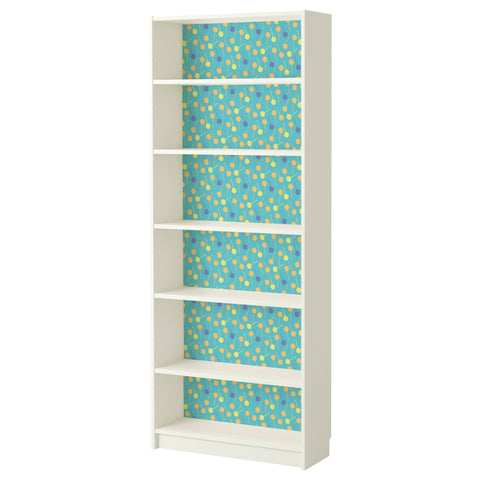 Teal Lollypop design BILLY Bookcase DecorPak