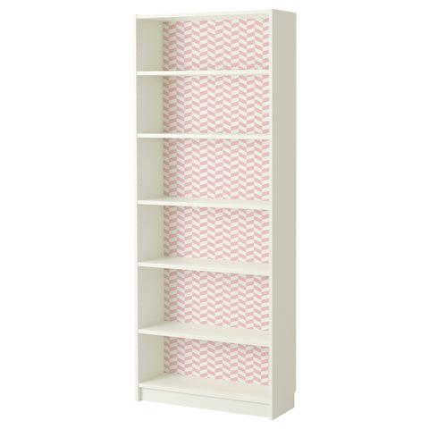 Pink Interlock design BILLY Bookcase DecorPak