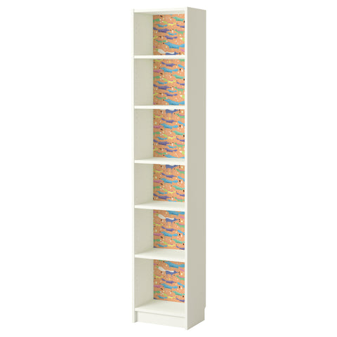 Folkfox Orange design BILLY Bookcase DecorPak
