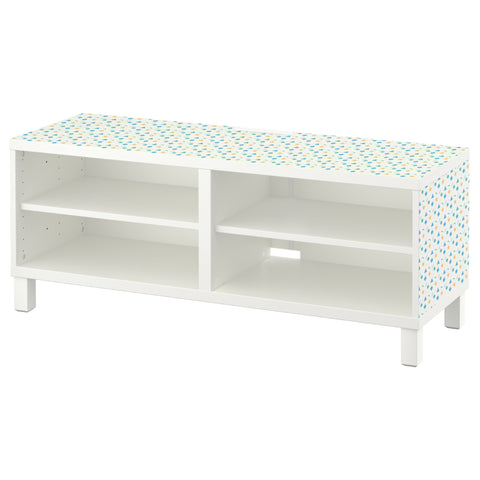 Shape Sorter design BESTA TV Bench DecorPak