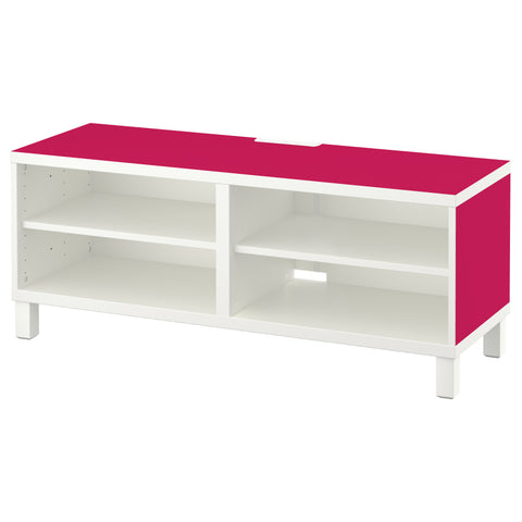 Cerise A design BESTA TV Bench DecorPak