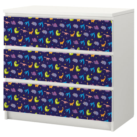Dino Night design MALM Chest of drawers DecorPak