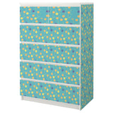 Teal Lollypop design MALM Chest of drawers DecorPak