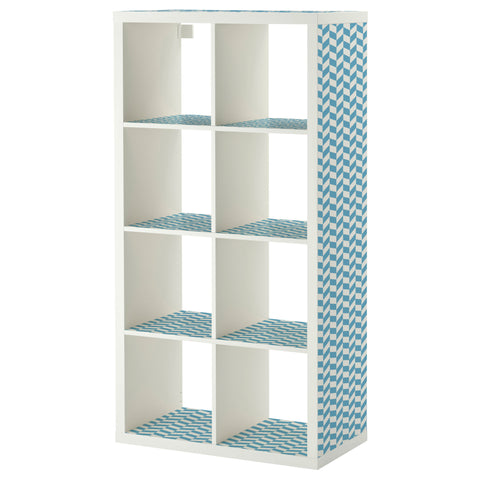 Blue Interlock design KALLAX Shelving unit DecorPak