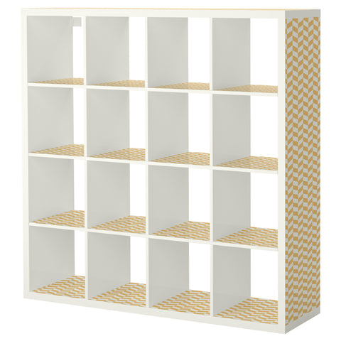 Orange Interlock design KALLAX Shelving unit DecorPak