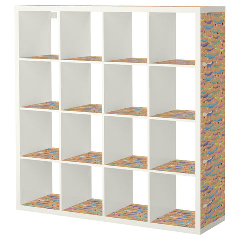 Folkfox Orange design KALLAX Shelving unit DecorPak