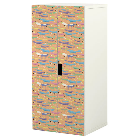 Folkfox Orange design STUVA Storage combination DecorPak