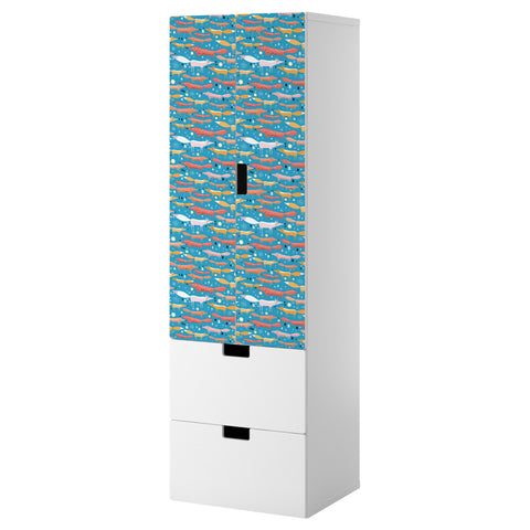 Folkfox Teal design STUVA Storage combination DecorPak