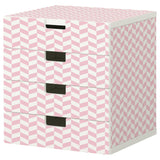 Pink Interlock design STUVA Storage combination DecorPak