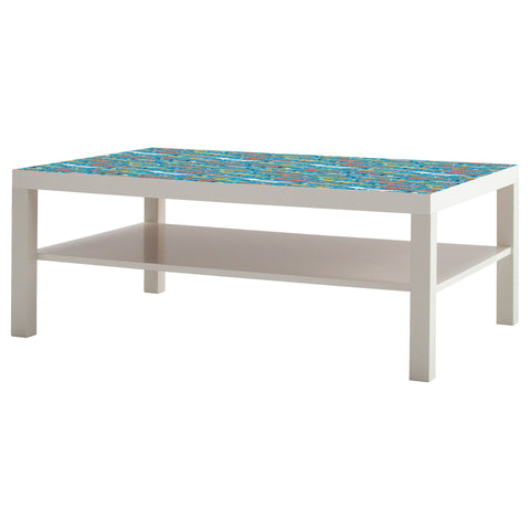 Folkfox Teal design LACK Coffee table DecorPak