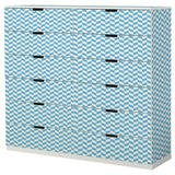 Blue Interlock design NORDLI Storage combination DecorPak