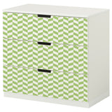 Green Interlock design NORDLI Storage combination DecorPak