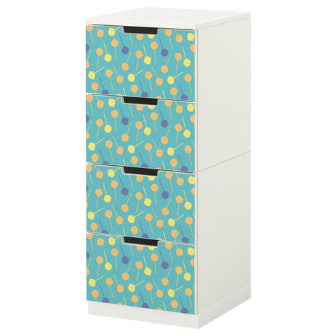 Teal Lollypop design NORDLI Storage combination DecorPak