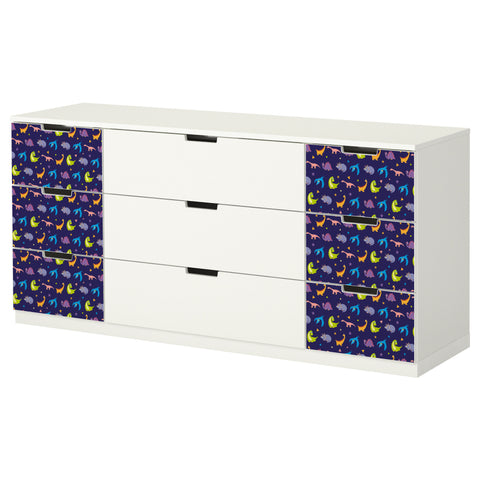 Dino Night design NORDLI Storage combination DecorPak
