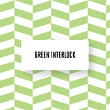 Green Interlock design BILLY Bookcase DecorPak