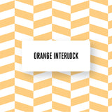 Orange Interlock design BESTA TV Bench DecorPak