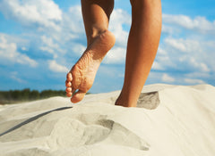Foot Exercise Sand Walking