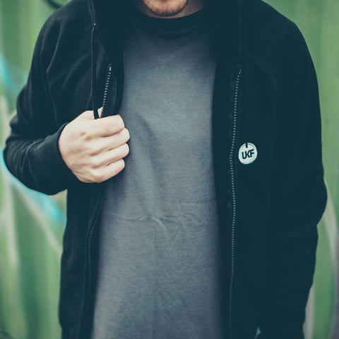 Embroidered Black Hoodie