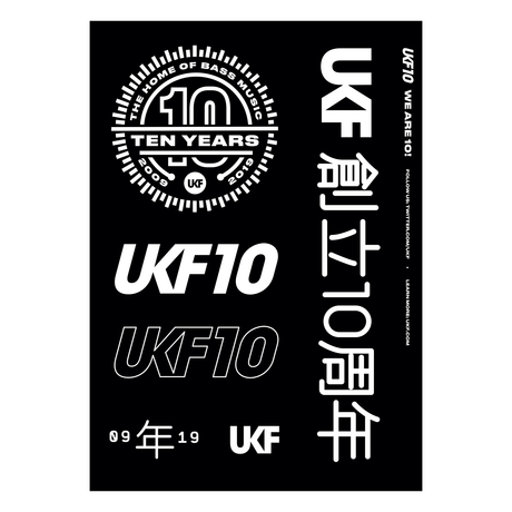 UKF 10 vinyl sticker sheet