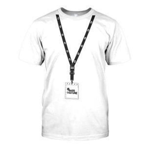 Bass Culture Lanyard Mens Tee - White
