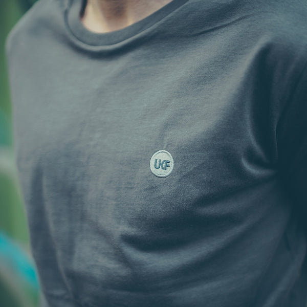 Premium Embroidered Dark Heather Blue