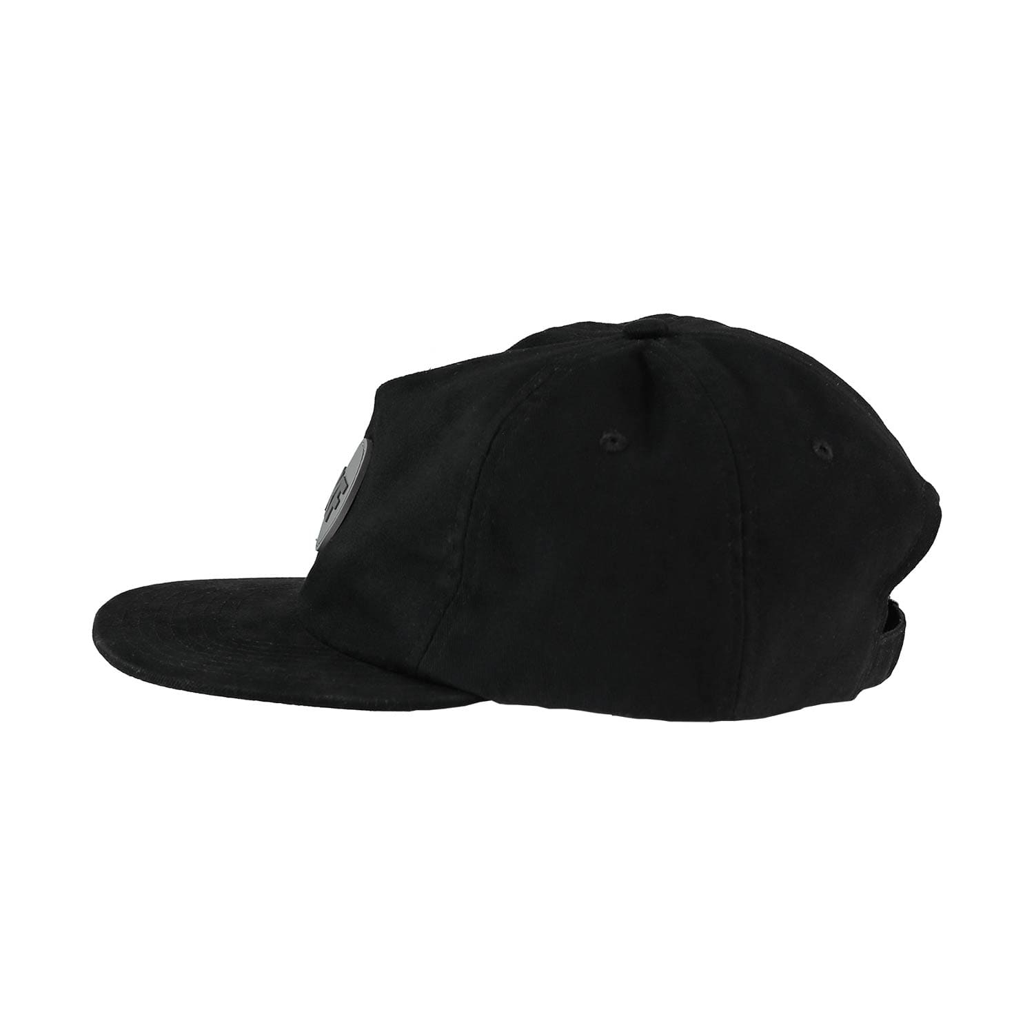 UKF Snapback in black side view