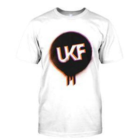 UKF Spray Logo Tee Orange / Purple - UKF Music Store