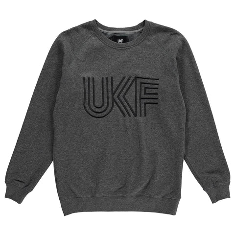 UKF tri-stitch sweater front