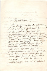 THOMAS Ambroise - Autograph Letter Signed 1843 praising Adolphe Sax inventor of the saxophone