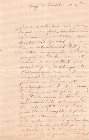 CRIMEAN WAR - Letters home from a French officer at the front 1855-56